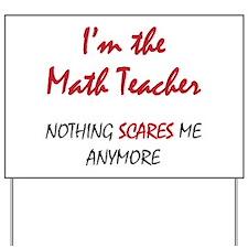 Math Teacher Yard Sign