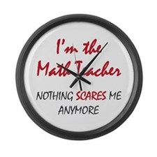 Math Teacher Large Wall Clock