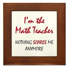 Math Teacher Framed Tile