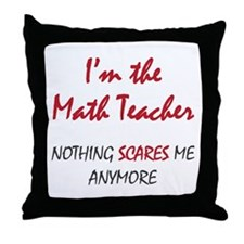 Math Teacher Throw Pillow