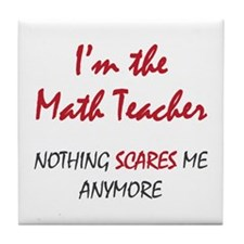 Math Teacher Tile Coaster