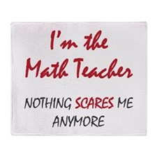 Math Teacher Throw Blanket