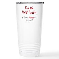 Math Teacher Stainless Steel Travel Mug
