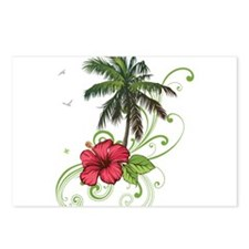 Tree with Hibiscus Postcards (Package of 8)