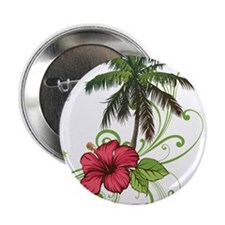 """Tree with Hibiscus 2.25"""" Button (100 pack)"""