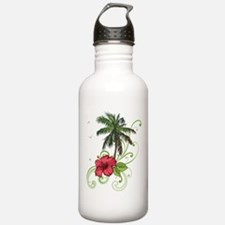 Tree with Hibiscus Water Bottle