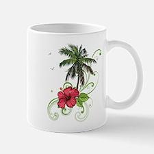 Tree with Hibiscus Mugs