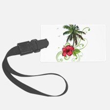 Tree with Hibiscus Luggage Tag