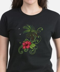 Tree with Hibiscus T-Shirt