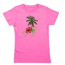Tree with Hibiscus Girl's Tee