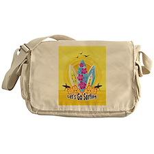 Lets Go Surfing Messenger Bag