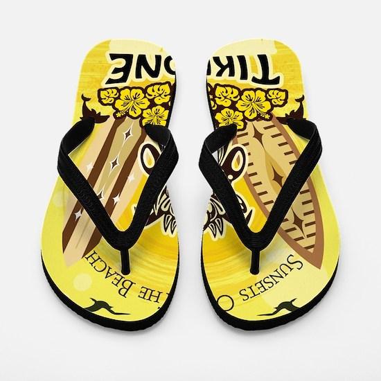 Tiki Zone-Yellow Flip Flops