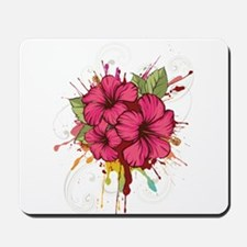 Pink Painted Hibiscus Mousepad