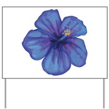 Purple Hibiscus Yard Sign