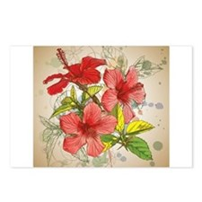 Hibiscus Design Postcards (Package of 8)