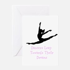Dancers Leap Towards Their Dreams Greeting Cards