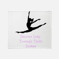 Dancers Leap Towards Their Dreams Throw Blanket
