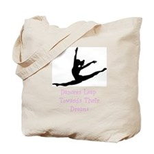 Dancers Leap Towards Their Dreams Tote Bag