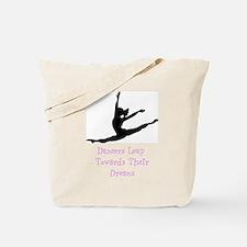 Dancers Leap Towards Their Dreams Tote Bag