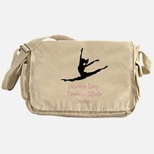 Dancers Leap Towards Their Dreams Messenger Bag