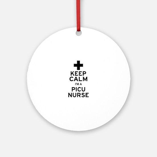 Keep Calm PICU Ornament (Round)