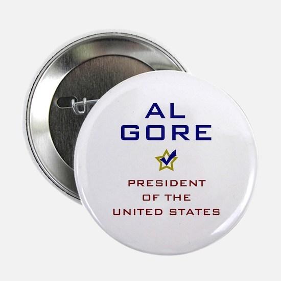 "Al Gore President USA V2 2.25"" Button"