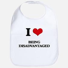 I Love Being Disadvantaged Bib