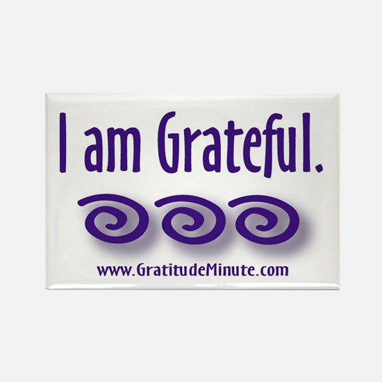 I am Grateful Rectangle Magnet