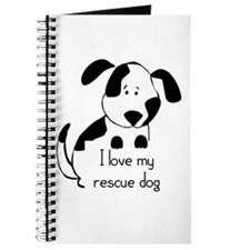 I love my rescue Dog Pet Humor Quote Journal
