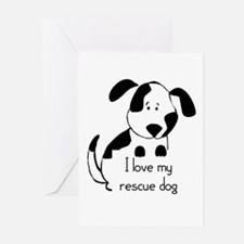 I love my rescue Dog Pet Humor Quote Greeting Card