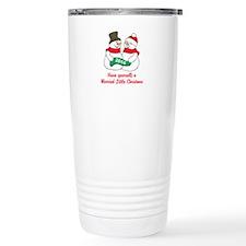 Christmas Newlyweds Travel Mug