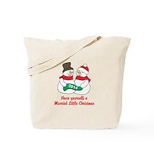 Christmas Newlyweds Tote Bag