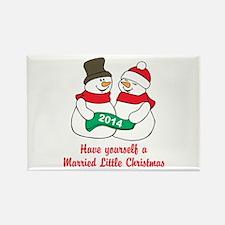 Christmas Newlyweds Magnets