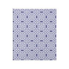 Blue Iris & White Lace 2 Throw Blanket