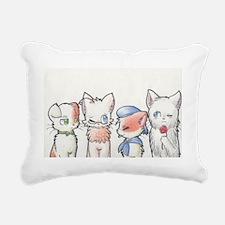 Four Nekos Rectangular Canvas Pillow