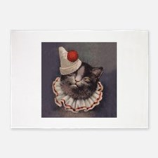 Clown Cat 5'x7'Area Rug