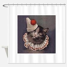 Clown Cat Shower Curtain