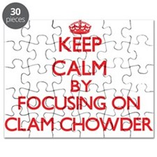 Keep Calm by focusing on Clam Chowder Puzzle