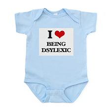 I Love Being Dsylexic Body Suit