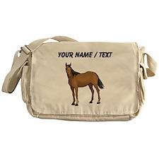 Custom Brown Horse Messenger Bag