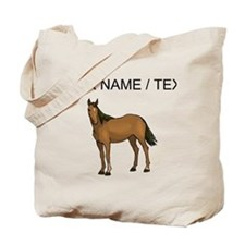Custom Brown Horse Tote Bag