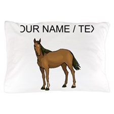 Custom Brown Horse Pillow Case