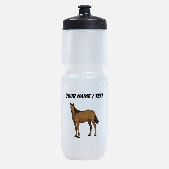 Custom Brown Horse Sports Bottle