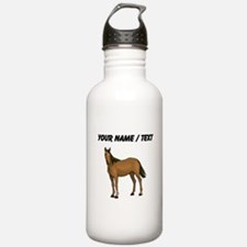 Custom Brown Horse Water Bottle