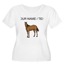 Custom Brown Horse Plus Size T-Shirt