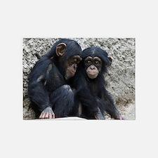 Chimpanzee002 5'x7'Area Rug