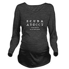 Scuba Addict Funny Long Sleeve Maternity T-Shirt