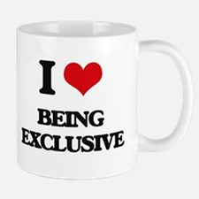 I love Being Exclusive Mugs
