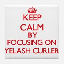 Keep Calm by focusing on Eyelash Curl Tile Coaster