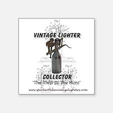 """Vintage Lighter Collector - Square Sticker 3"""""""